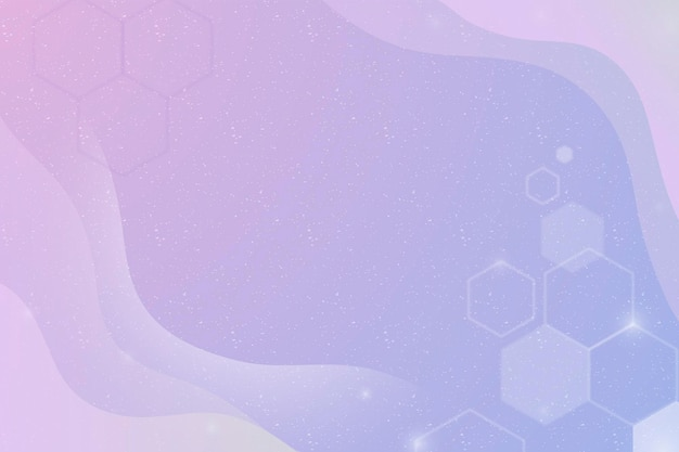Aesthetic background vector with hexagons