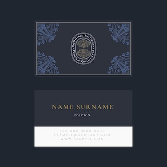 Aesthetic business card template for restaurant, remixed from public domain artworks