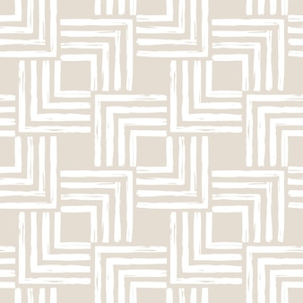 Aesthetic contemporary printable seamless pattern with abstract minimal shapes and line in nude