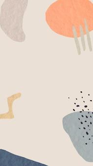 美的フレームモバイル壁紙背景ベクトル、メンフィスデザイン