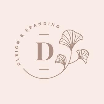 Distintivo aziendale del modello di logo estetico, vettore del marchio della società di design creativo