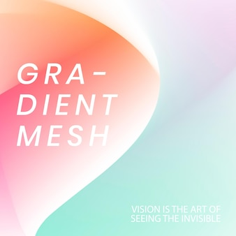 Aesthetic template vector in pastel mesh gradient for social media post