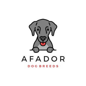 Значок эмблемы породы собак афадор