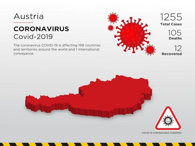 Affected country of coronavirus disease design template