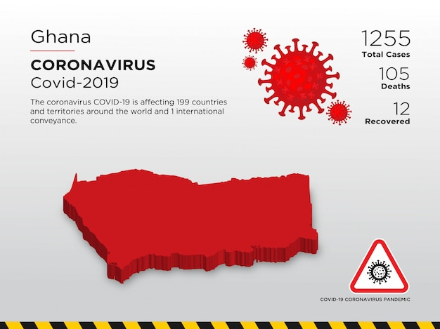 Affected country of coronavirus disease design template