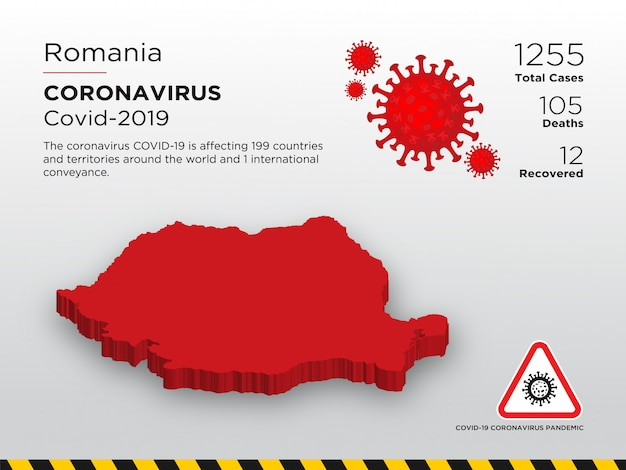 영향을받는 코로나 바이러스 질병 국가 디자인 템플릿