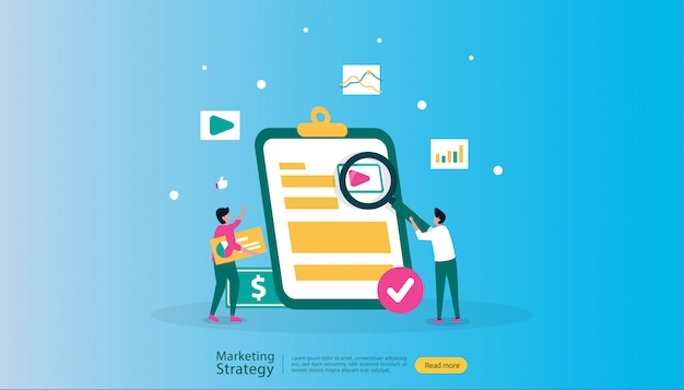 Affiliate digital marketing strategy illustration