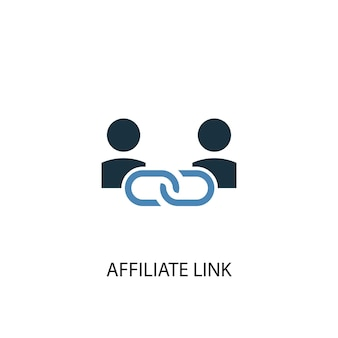 Affiliate link concept 2 colored icon. simple blue element illustration. affiliate link concept symbol design. can be used for web and mobile ui/ux