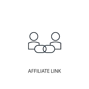 Affiliate link concept line icon. simple element illustration. affiliate link concept outline symbol design. can be used for web and mobile ui/ux