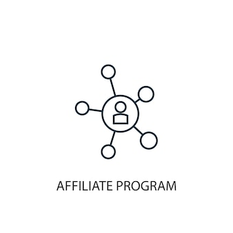 Affiliate program concept line icon. simple element illustration. affiliate program concept outline symbol design. can be used for web and mobile ui/ux