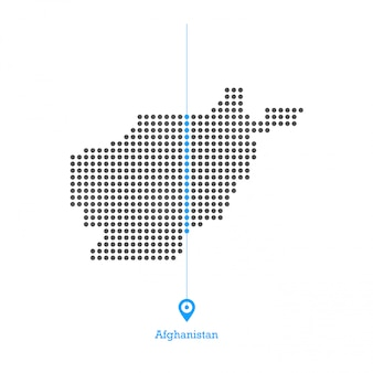 Afghanistan doted map design vector