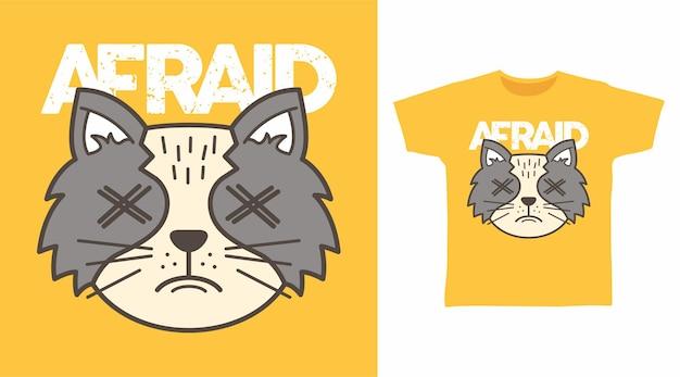 두려워 고양이 tshirt 디자인