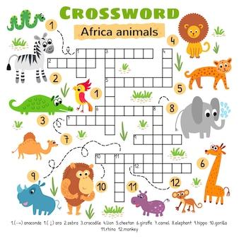 Africa animals crossword