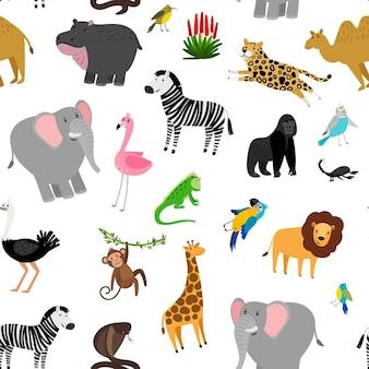 Africa animals pattern.