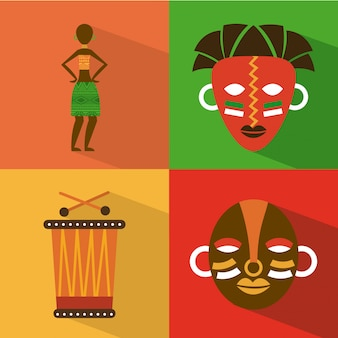 Africa design over colorful background vector illustration