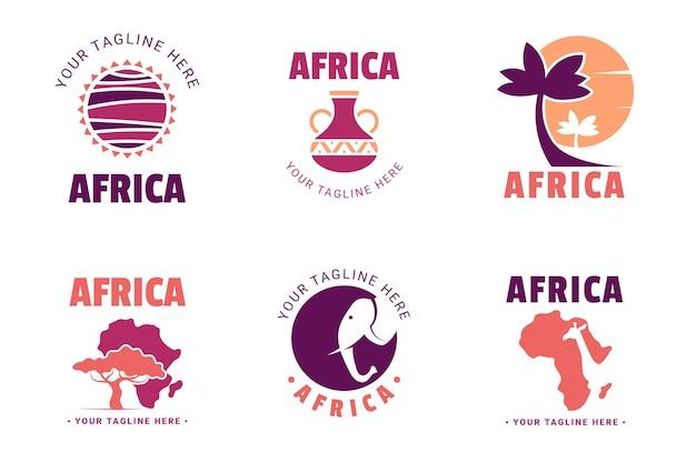Коллекция логотипов африки