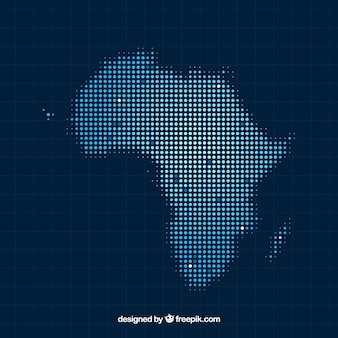 Africa map background with dots