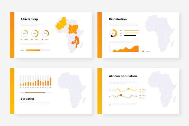 アフリカの地図のインフォグラフィック