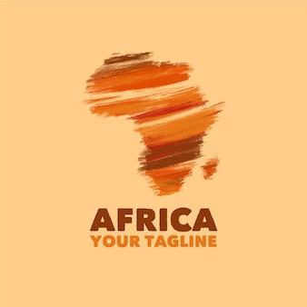 Шаблон логотипа карта африки
