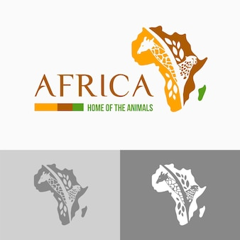 Africa map logo template