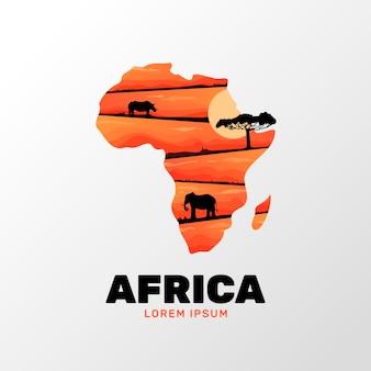 아프리카지도 로고 템플릿