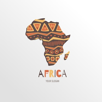Africa map logo with slogan