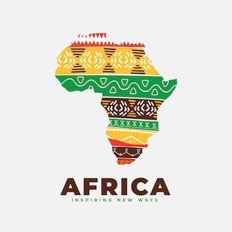 アフリカの地図のロゴ