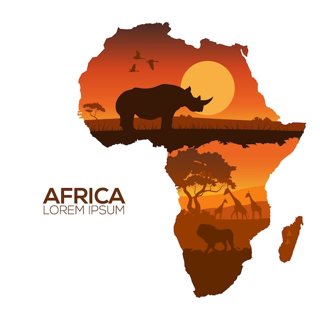 africa vectors photos and psd files free download rh freepik com africa vector maps download free africa vector illustration