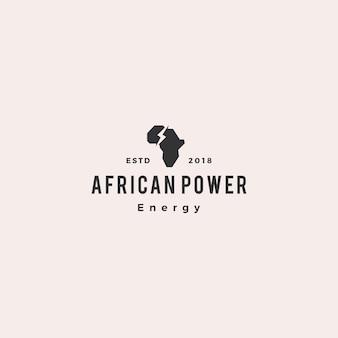 Africa power energy logo hipster retro vintage icon