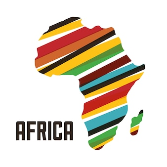 Africa represented by his own map design