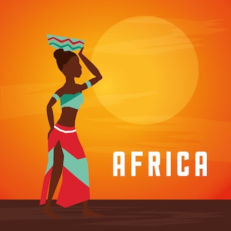 Africa Represented By His Woman Design