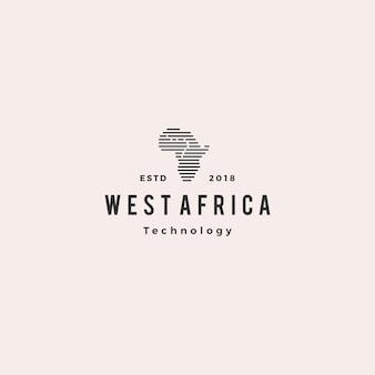 Africa tech digital logo hipster vintage retro icon