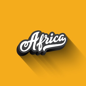 Africa text calligraphy vintage retro lettering
