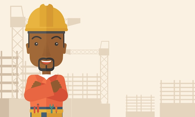 African-american constructions worker