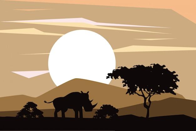 Африканские силуэты животных