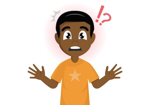 African boy mark shocked