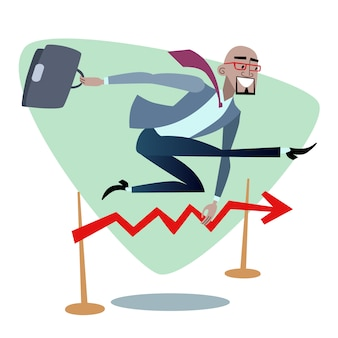 African businessman jumps schedule sales is like a barrier in ru