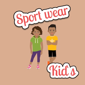 African children in sport wear style