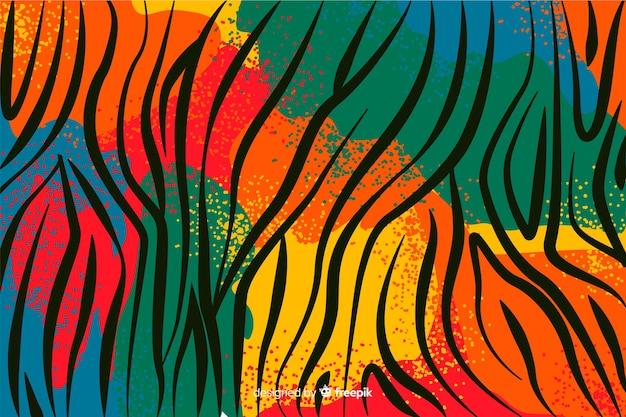 Африканская ткань и фон из кожи животных