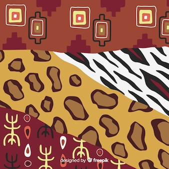 African fabric and animal skin background
