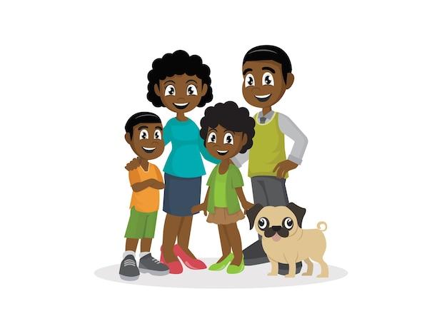 아이들과 함께 아프리카 가족.