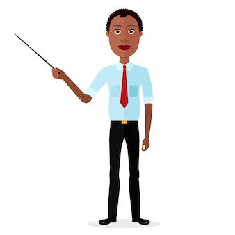 African man presenting something vector