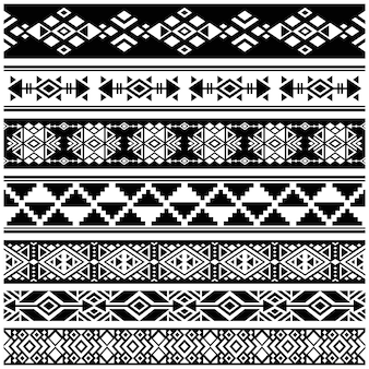 African and mexican aztec american tribal vector