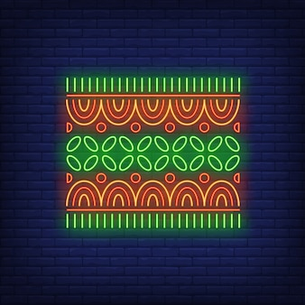 African motif neon sign