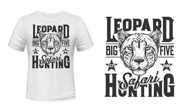 African safari  print, leopard panther
