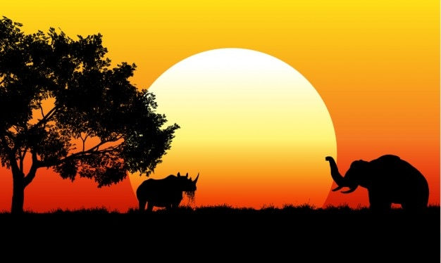 African safari scene