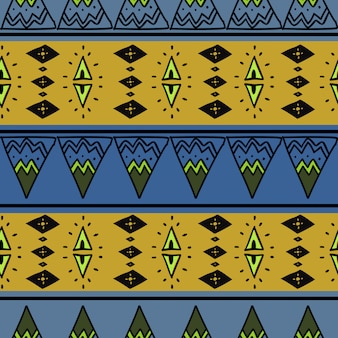 African seamless pattern colorful abstract drawing
