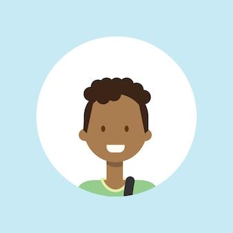 Африканский подросток парень лицо счастливый портрет мальчика