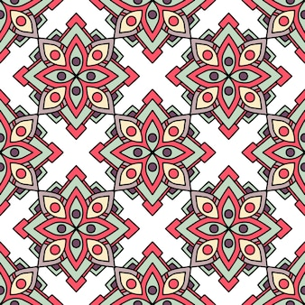 アフリカの部族の花のパターン、アウトラインのスタイル