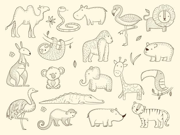 アフリカの野生動物セット